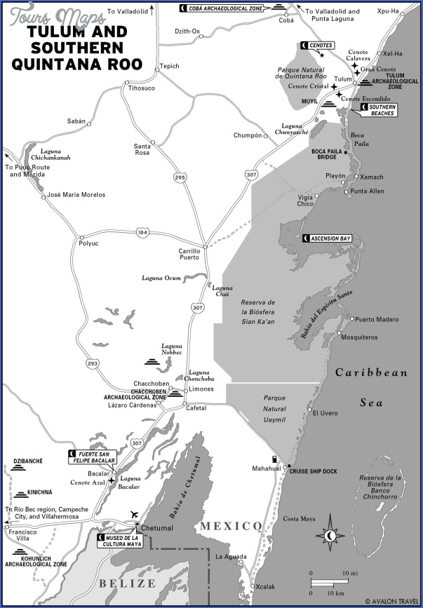 map of tulum and coba 15 Map of Tulum and Coba