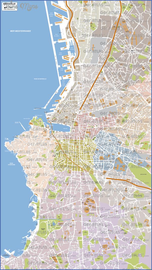 marseille map 11 Marseille Map
