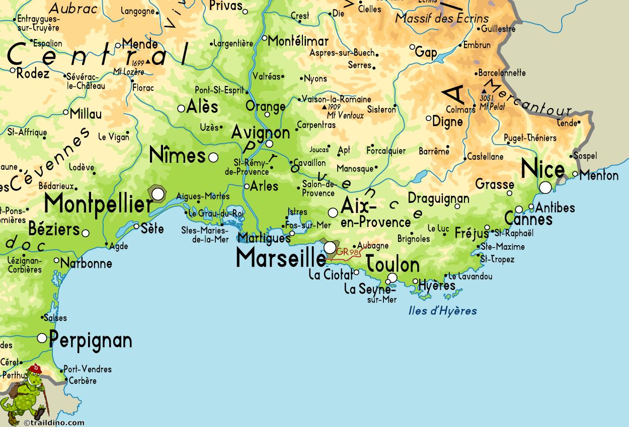 Marseille Map ToursMapscom