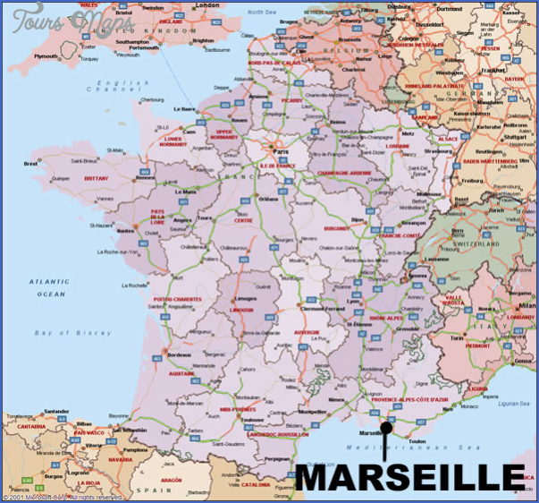 Marseille Map ToursMapscom