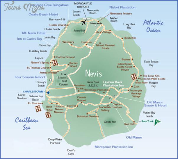 nevis map 16 Nevis Map