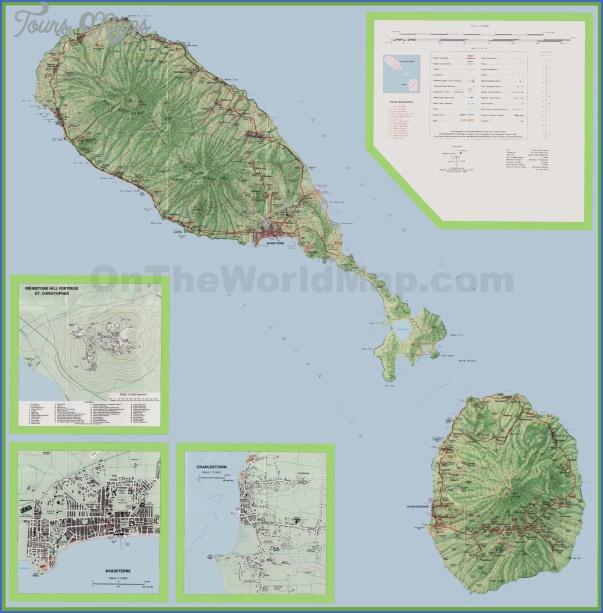 nevis map 17 Nevis Map