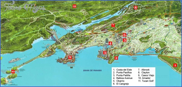 panama city map 1 Panama City Map