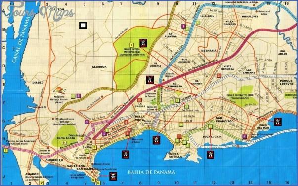 panama city map 16 Panama City Map