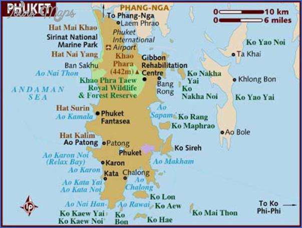 phuket map tourist attractions 9 Phuket Map Tourist Attractions