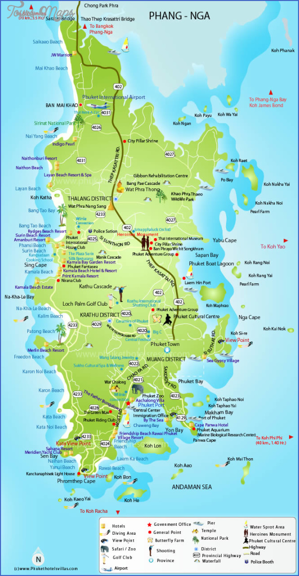 phuket map 4 Phuket Map