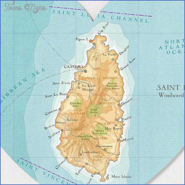 saint lucia map 19 Saint Lucia Map