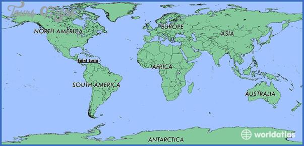 saint lucia map 8 Saint Lucia Map