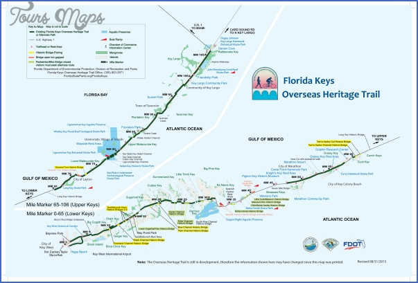 Florida Keys Map With Mile Markers.The Florida Keys Key West Map Toursmaps Com