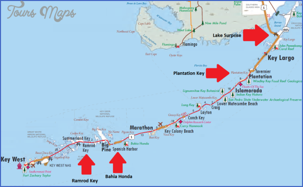 Map Of Florida Key West.The Florida Keys Key West Map Toursmaps Com