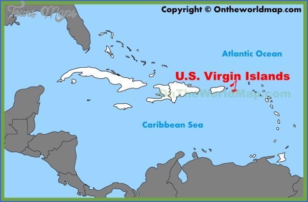 u s virgin islands map 1 U.S. VIRGIN ISLANDS MAP