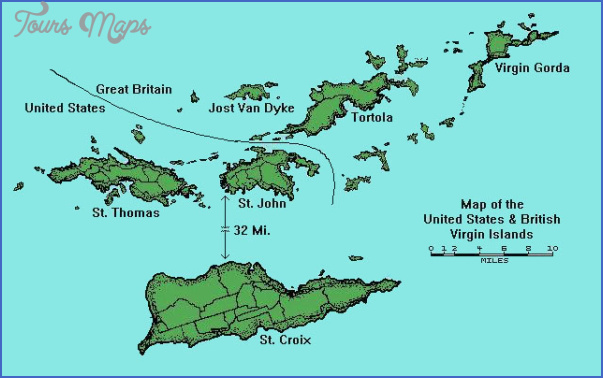US VIRGIN ISLANDS MAP Map Travel Holiday Vacations - Us map with virgin islands