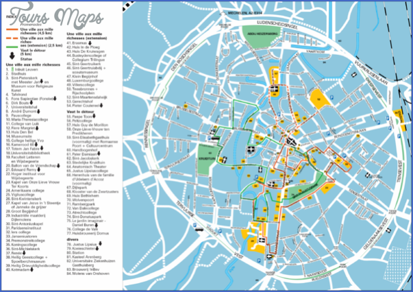 Antwerp Map Tourist Attractions ToursMapscom