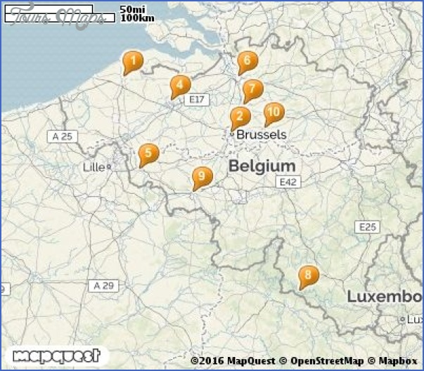 belgium map tourist attractions 10 Belgium Map Tourist Attractions