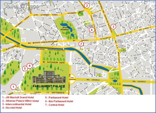 bucharest map tourist attractions 3 Bucharest Map Tourist Attractions