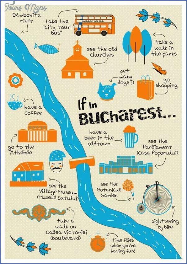 Bucharest Map Tourist Attractions - ToursMaps.com