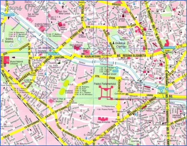bucharest map tourist attractions 6 Bucharest Map Tourist Attractions