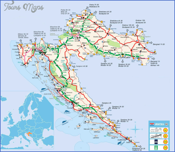 croatia map 13 Croatia Map