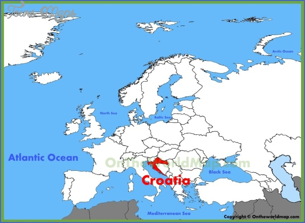 croatia map 6 Croatia Map