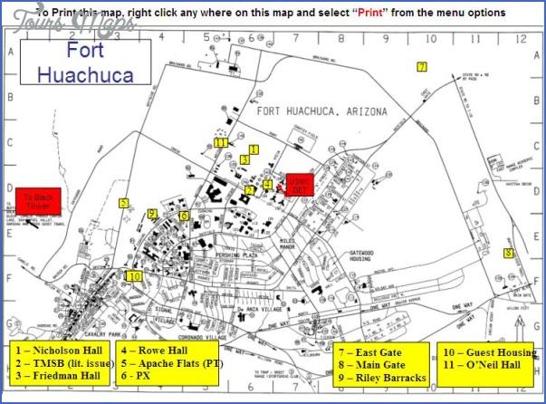 fort huachuca huachuca city map 7 Fort Huachuca, Huachuca City Map