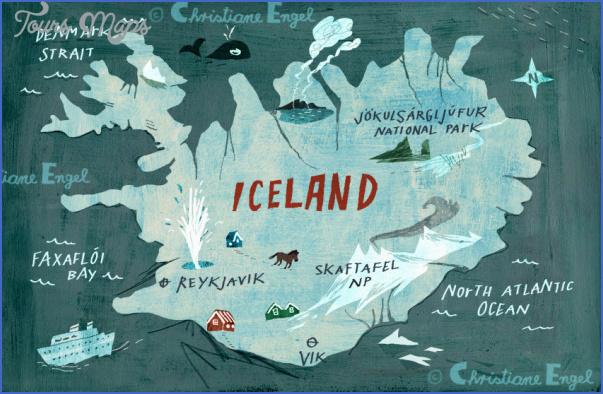 iceland map 3 Iceland Map