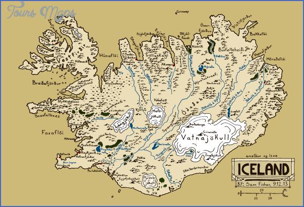 iceland map 4 Iceland Map