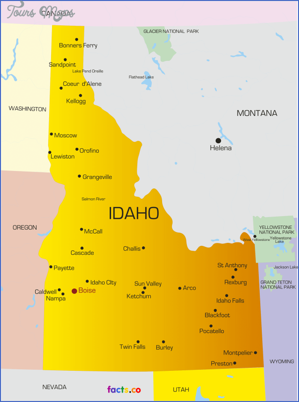 idaho map 0 IDAHO MAP