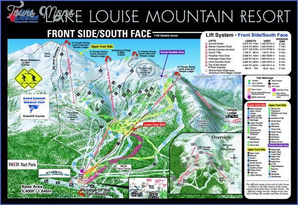 lake louise map canada 11 Lake Louise Map Canada