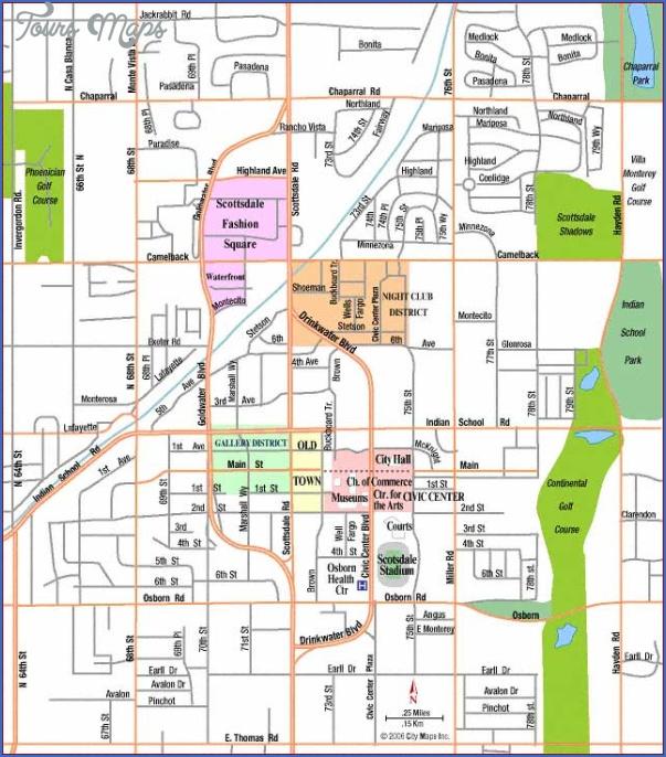 map of scottsdale arizona 29 Map of Scottsdale Arizona