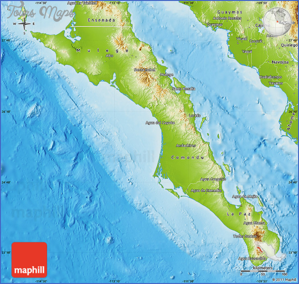 maps of baja california mexico 1 Maps of Baja California Mexico