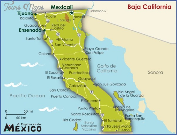maps of baja california mexico 15 Maps of Baja California Mexico