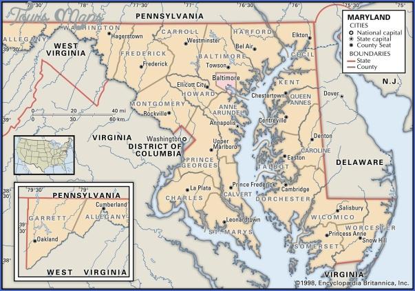 maryland map 4 MARYLAND MAP