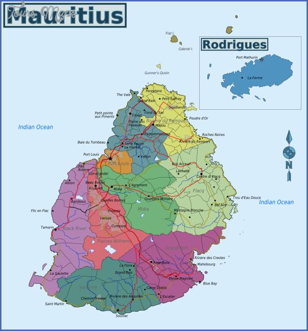 mauritius map 1 Mauritius Map