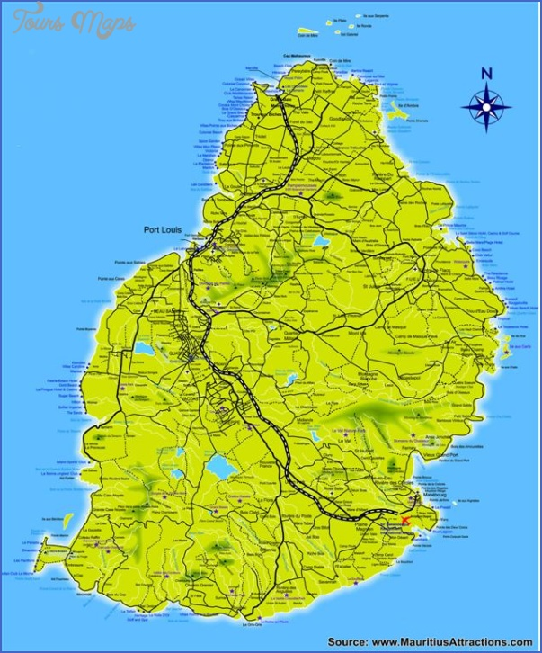 mauritius map 7 Mauritius Map
