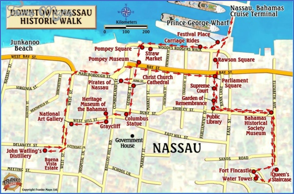 Nassau Bahamas Map Toursmaps Com