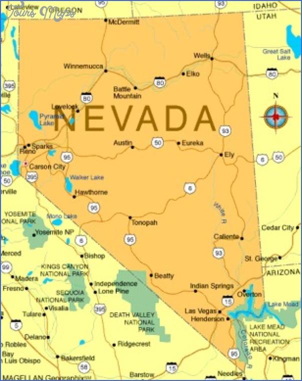 nevada map tourist 9 NEVADA MAP TOURIST