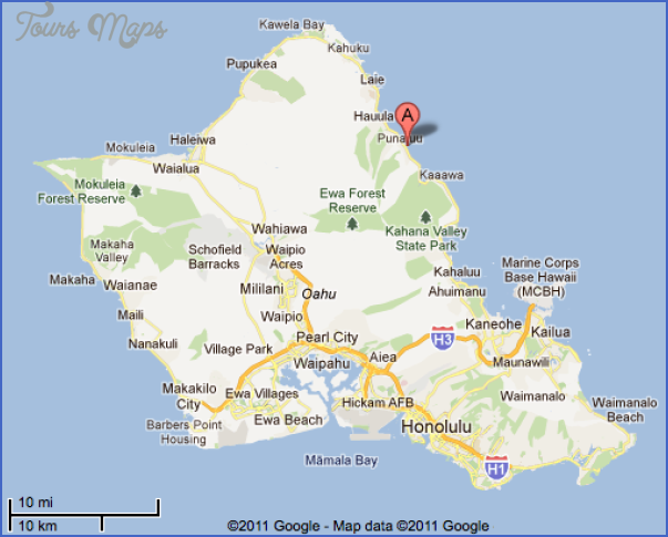 photograph about Oahu Map Printable titled Oahu Map - ®
