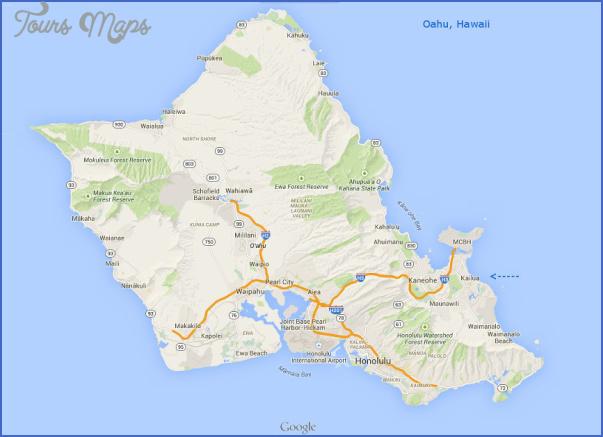 oahu map 11 Oahu Map