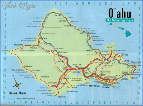 oahu map 13 Oahu Map