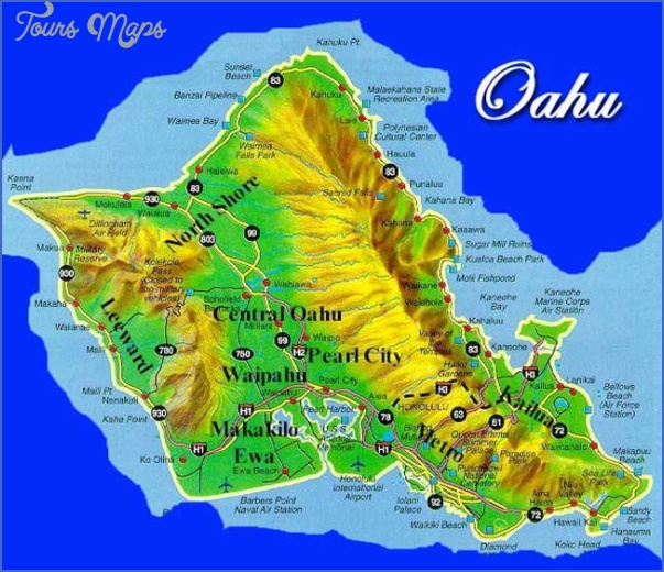 Epic image for printable map of oahu
