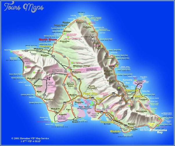 oahu map 19 Oahu Map