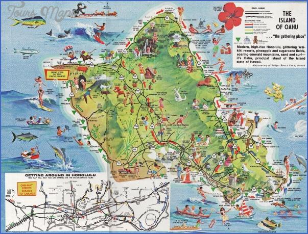oahu map 4 Oahu Map