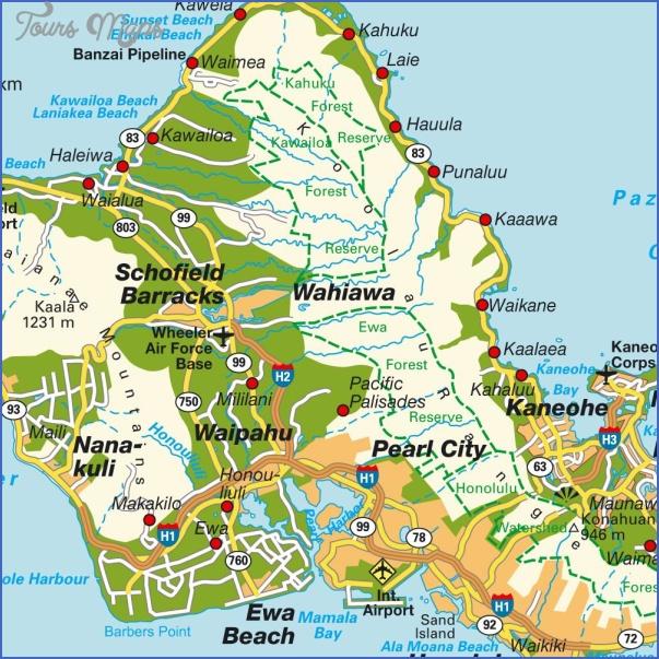 oahu map 5 Oahu Map