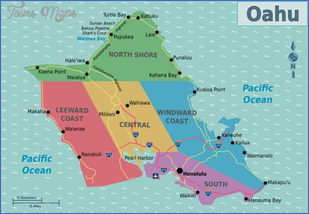 oahu map 7 Oahu Map