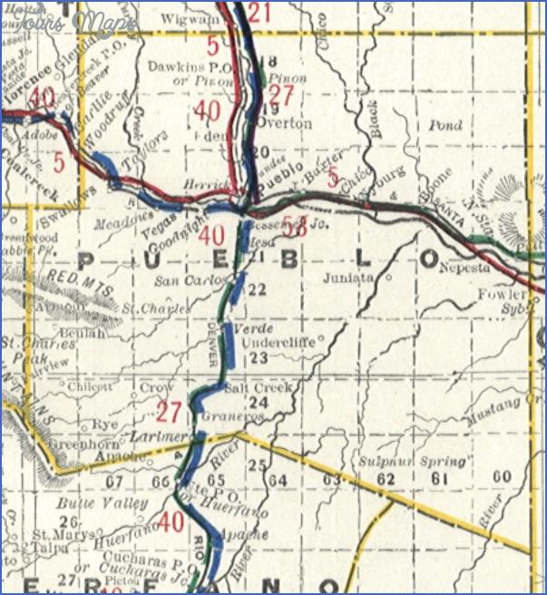 Pueblo Colorado Map Toursmaps Com