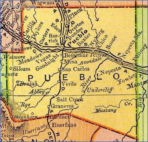 pueblo colorado map 9 Pueblo Colorado Map