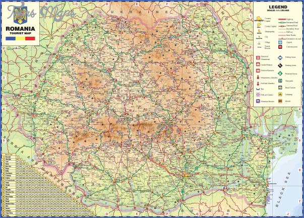 Romania Map Detailed Toursmaps Com