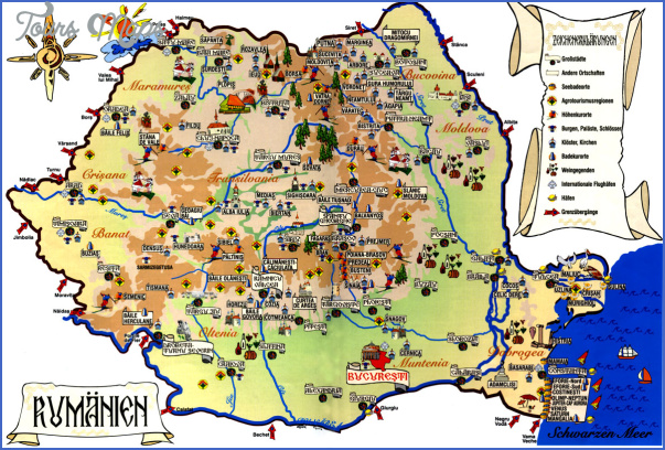 Romania Road Map Online Toursmaps Com