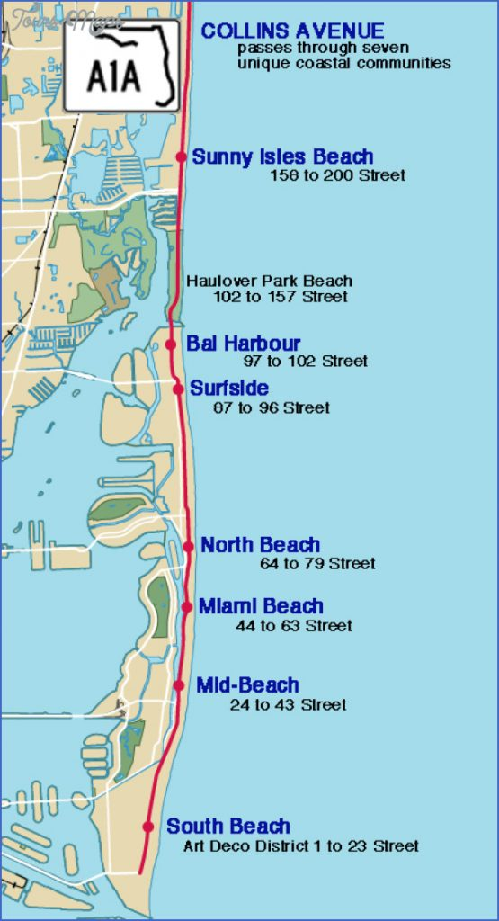 sunny isles beach map florida - toursmaps