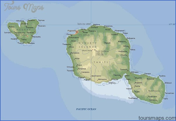 tahiti map 1 Tahiti Map